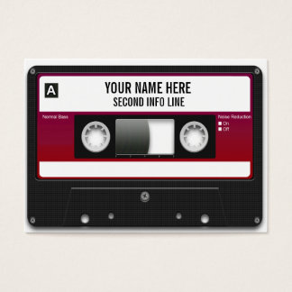 DJ Cassette Tape Mixtape Business Card