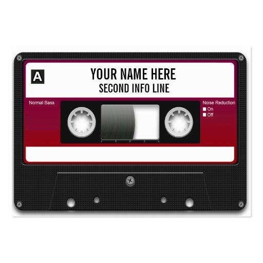 DJ Cassette Tape Mixtape Business Card Template