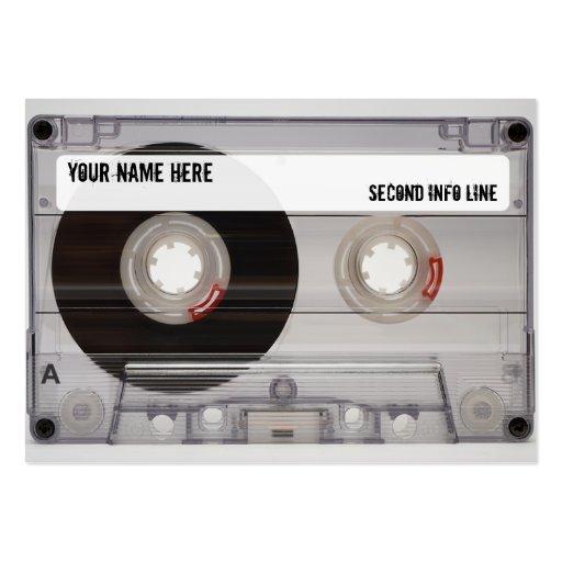 Dj cassette tape mixtape large business cards pack of 100 for Dj business card template
