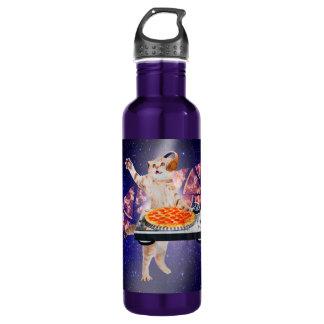 dj cat - cat dj - space cat - cat pizza 710 ml water bottle
