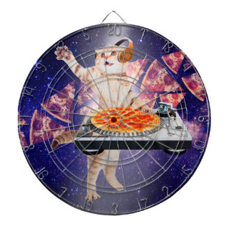 dj cat - cat dj - space cat - cat pizza dartboard