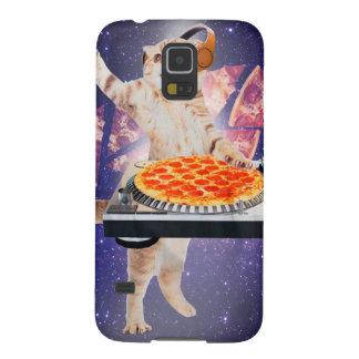 dj cat - cat dj - space cat - cat pizza galaxy s5 case