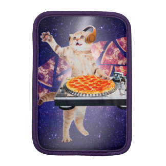 dj cat - cat dj - space cat - cat pizza iPad mini sleeve