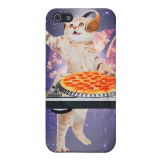 dj cat - cat dj - space cat - cat pizza iPhone 5/5S covers