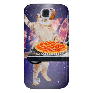 dj cat - cat dj - space cat - cat pizza samsung galaxy s4 cover