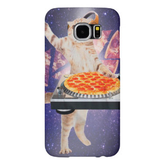 dj cat - cat dj - space cat - cat pizza samsung galaxy s6 cases
