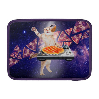 dj cat - cat dj - space cat - cat pizza sleeve for MacBook air
