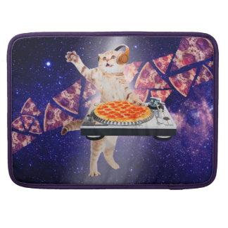 dj cat - cat dj - space cat - cat pizza sleeve for MacBook pro