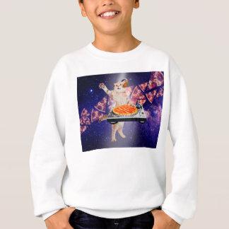 dj cat - cat dj - space cat - cat pizza sweatshirt