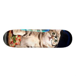 dj cat - space cat - cat pizza - cute cats 21.3 cm mini skateboard deck