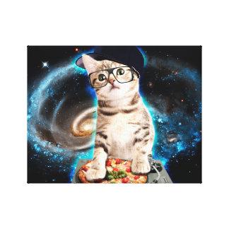 dj cat - space cat - cat pizza - cute cats canvas print