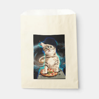 dj cat - space cat - cat pizza - cute cats favour bag