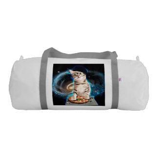 dj cat - space cat - cat pizza - cute cats gym duffel bag