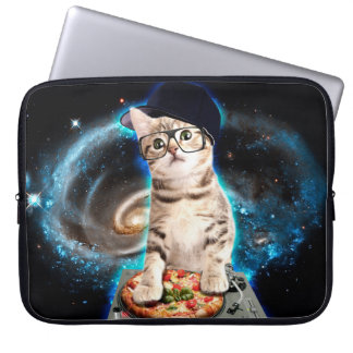 dj cat - space cat - cat pizza - cute cats laptop sleeve