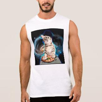 dj cat - space cat - cat pizza - cute cats sleeveless shirt