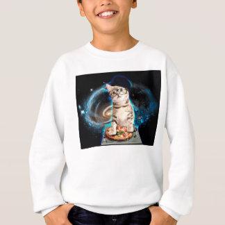 dj cat - space cat - cat pizza - cute cats sweatshirt