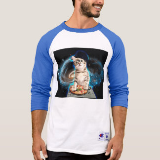 dj cat - space cat - cat pizza - cute cats T-Shirt