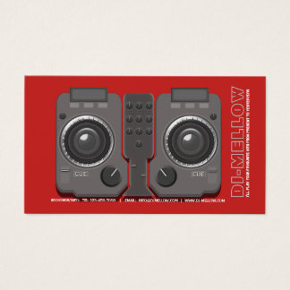 DJ CD Turntable Mixer Console Business Card(3) Business Card