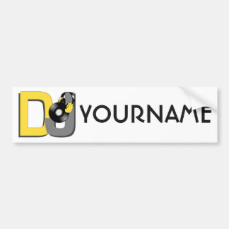 DJ custom bumpersticker Bumper Sticker