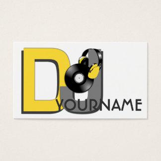 DJ custom business cards
