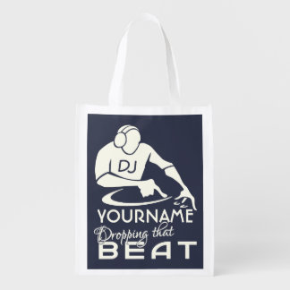 DJ custom name & color reusable bag