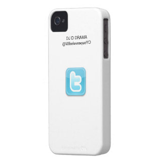 DJ D DRAMA iPhone 4/4S Twitter Series Case White iPhone 4 Cover