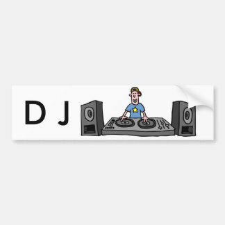 dj, D, J Bumper Sticker