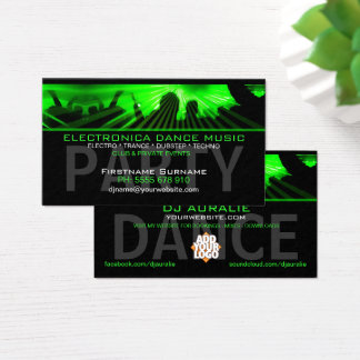 DJ Dance Rave Lasers Club Business Card