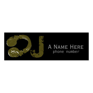dj / dee jay / electronic music pack of skinny business cards