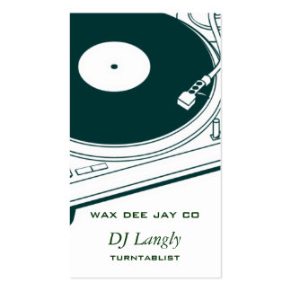 DJ Dee Jay Turntable Double-Sided Standard Business Cards (Pack Of 100)