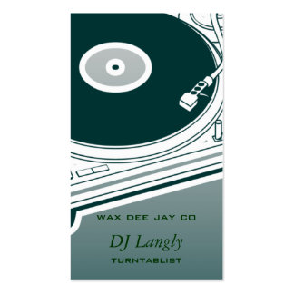 DJ Dee Jay Turntable Pack Of Standard Business Cards