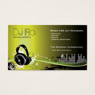 DJ - deejay music coordinator Business Card