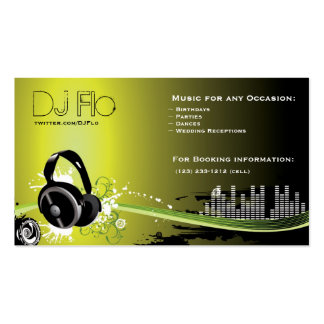 DJ - deejay music coordinator Pack Of Standard Business Cards