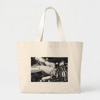 Dj Deejay Music Night Nightclub Club Night Club Large Tote Bag