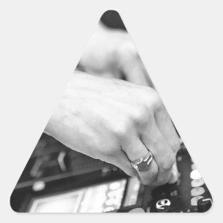 Dj Deejay Music Night Nightclub Club Night Club Triangle Sticker