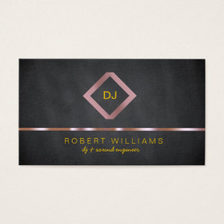 DJ Deejay Professional Rose Gold Faux Music Business Card