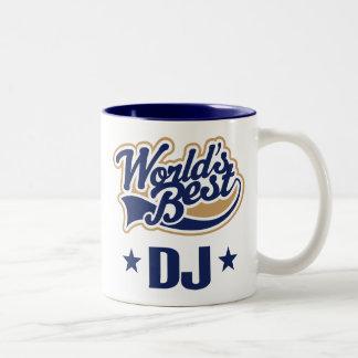 Dj Disc Jockey Gift (Worlds Best) Two-Tone Coffee Mug
