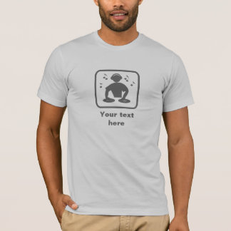 DJ / Disc Jockey -- Grey Logo -- Customizable T-Shirt