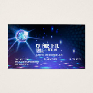 DJ Disco Dance  Party Look Business Card
