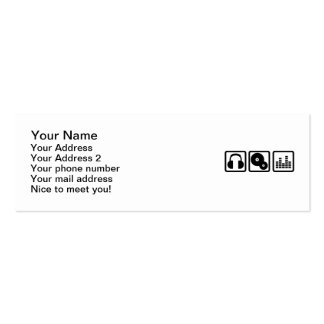 DJ Equalizer headphones vinyl Business Cards