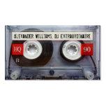 DJ Extraordinaire Cassette Tape Business Card Templates