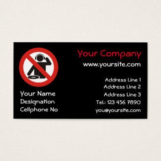 DJ free zone Business Card