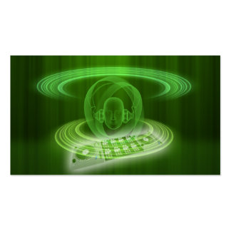 DJ_green Double-Sided Standard Business Cards (Pack Of 100)