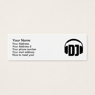 DJ headphones Mini Business Card