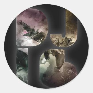 DJ i6 Color Logo 1 Sticker