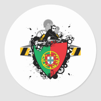 DJ in Portugal Classic Round Sticker