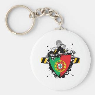 DJ in Portugal Key Ring