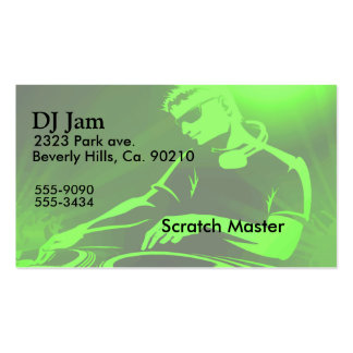 DJ Jam Turntables Double-Sided Standard Business Cards (Pack Of 100)