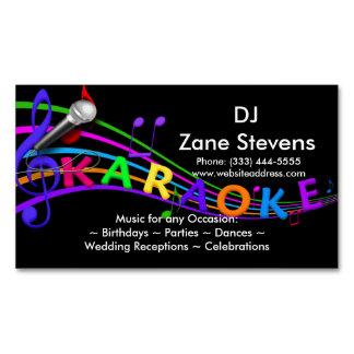 DJ Karaoke Business Card Magnet