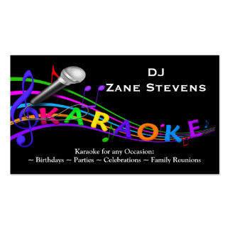 DJ Karaoke Business Card Template